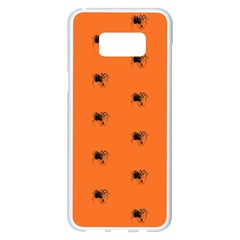 Funny Halloween   Spider Pattern Samsung Galaxy S8 Plus White Seamless Case