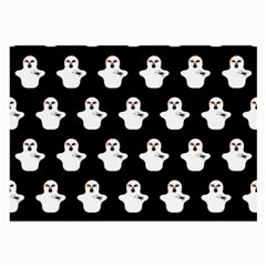 Funny Halloween   Ghost Pattern Large Glasses Cloth (2 Side) by MoreColorsinLife