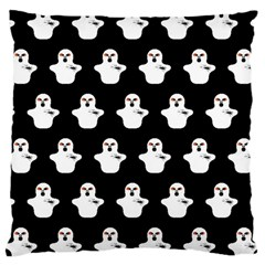 Funny Halloween   Ghost Pattern Large Cushion Case (one Side) by MoreColorsinLife