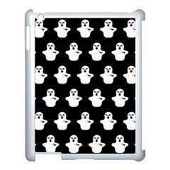 Funny Halloween   Ghost Pattern Apple Ipad 3/4 Case (white) by MoreColorsinLife