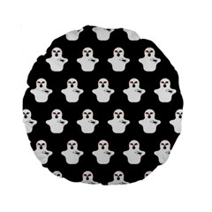 Funny Halloween   Ghost Pattern Standard 15  Premium Round Cushions by MoreColorsinLife