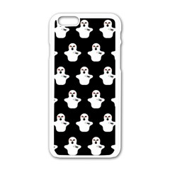 Funny Halloween   Ghost Pattern Apple Iphone 6/6s White Enamel Case by MoreColorsinLife