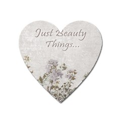 Shabby Chic Style Motivational Quote Heart Magnet by dflcprints