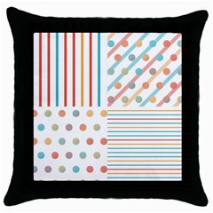Simple Saturated Pattern Throw Pillow Case (black)