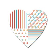 Simple Saturated Pattern Heart Magnet by linceazul