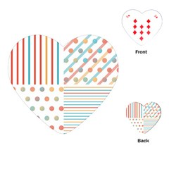 Simple Saturated Pattern Playing Cards (heart)  by linceazul