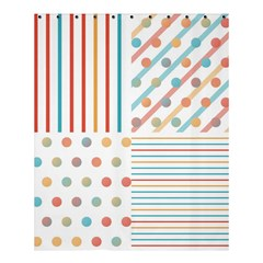 Simple Saturated Pattern Shower Curtain 60  X 72  (medium)  by linceazul