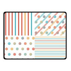 Simple Saturated Pattern Double Sided Fleece Blanket (small)  by linceazul