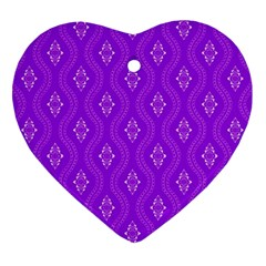 Decorative Seamless Pattern  Heart Ornament (two Sides) by TastefulDesigns