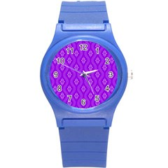 Decorative Seamless Pattern  Round Plastic Sport Watch (s)