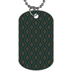 Ornamental Pattern Background Dog Tag (one Side) by TastefulDesigns
