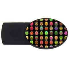 Beetles Insects Bugs Usb Flash Drive Oval (2 Gb)