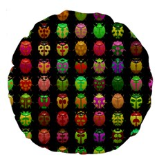 Beetles Insects Bugs Large 18  Premium Round Cushions by BangZart