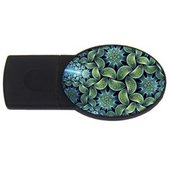 Blue Lotus Usb Flash Drive Oval (2 Gb)