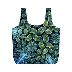 Blue Lotus Full Print Recycle Bags (m)  by BangZart