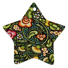 Bohemia Floral Pattern Ornament (star)