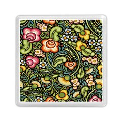 Bohemia Floral Pattern Memory Card Reader (square)  by BangZart