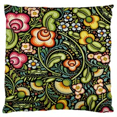 Bohemia Floral Pattern Large Cushion Case (one Side)