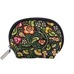 Bohemia Floral Pattern Accessory Pouches (small)  by BangZart