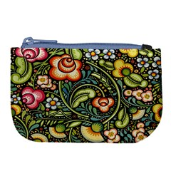 Bohemia Floral Pattern Large Coin Purse by BangZart