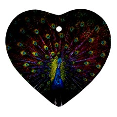 Beautiful Peacock Feather Ornament (heart) by BangZart