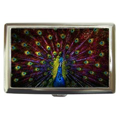 Beautiful Peacock Feather Cigarette Money Cases