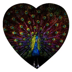 Beautiful Peacock Feather Jigsaw Puzzle (heart)