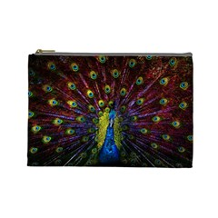 Beautiful Peacock Feather Cosmetic Bag (large)  by BangZart