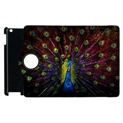 Beautiful Peacock Feather Apple Ipad 2 Flip 360 Case by BangZart