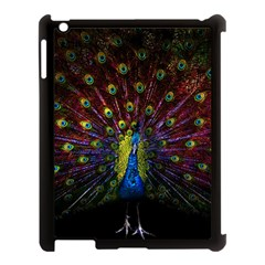 Beautiful Peacock Feather Apple Ipad 3/4 Case (black)