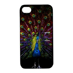 Beautiful Peacock Feather Apple Iphone 4/4s Hardshell Case With Stand by BangZart