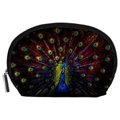 Beautiful Peacock Feather Accessory Pouches (large)  by BangZart