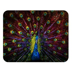 Beautiful Peacock Feather Double Sided Flano Blanket (large)  by BangZart