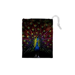 Beautiful Peacock Feather Drawstring Pouches (xs)
