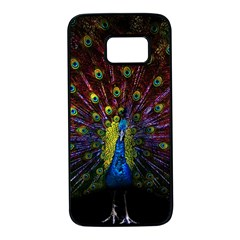 Beautiful Peacock Feather Samsung Galaxy S7 Black Seamless Case
