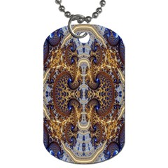 Baroque Fractal Pattern Dog Tag (one Side) by BangZart