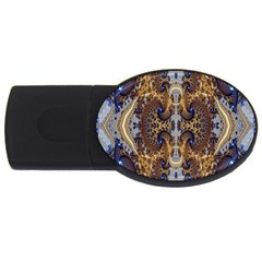 Baroque Fractal Pattern Usb Flash Drive Oval (4 Gb) by BangZart