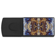 Baroque Fractal Pattern Rectangular Usb Flash Drive by BangZart
