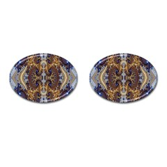 Baroque Fractal Pattern Cufflinks (oval) by BangZart