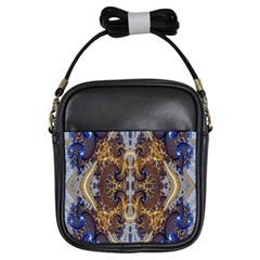 Baroque Fractal Pattern Girls Sling Bags by BangZart