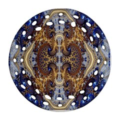 Baroque Fractal Pattern Round Filigree Ornament (two Sides) by BangZart