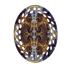 Baroque Fractal Pattern Oval Filigree Ornament (two Sides) by BangZart