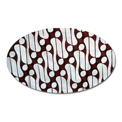 Batik Art Patterns Oval Magnet