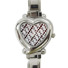 Batik Art Patterns Heart Italian Charm Watch by BangZart