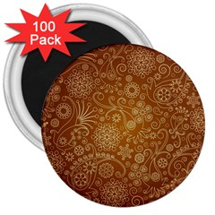 Batik Art Pattern 3  Magnets (100 Pack)