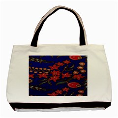 Batik  Fabric Basic Tote Bag by BangZart