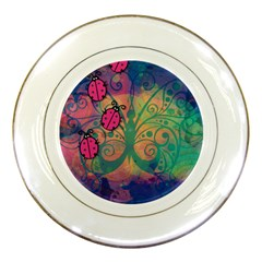 Background Colorful Bugs Porcelain Plates by BangZart