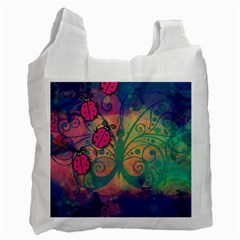 Background Colorful Bugs Recycle Bag (one Side) by BangZart
