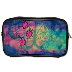 Background Colorful Bugs Toiletries Bags