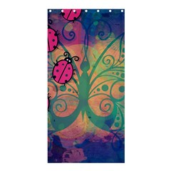 Background Colorful Bugs Shower Curtain 36  X 72  (stall)